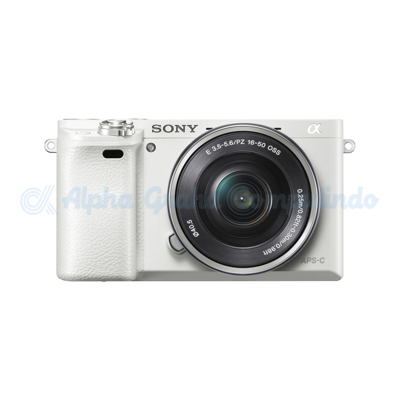 Sony   Alpha a6000 Mirrorless Digital Camera with 16-50mm Lens - White [ILCE-6000L]