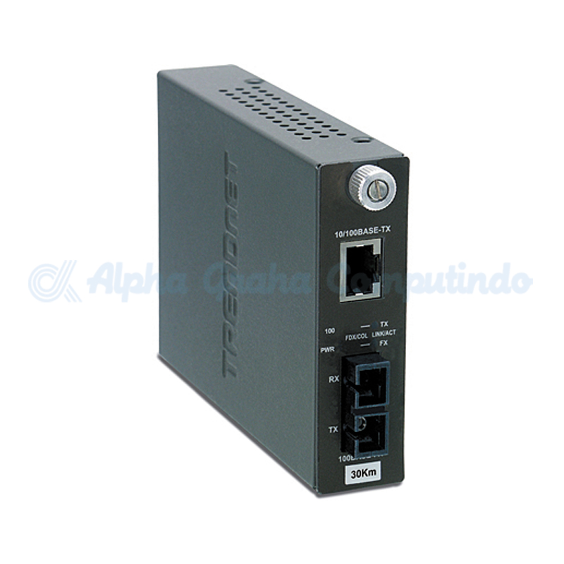 TRENDnet  100Base-TX to 100Base-FX Single Mode SC Fiber Converter [TFC-110S100]