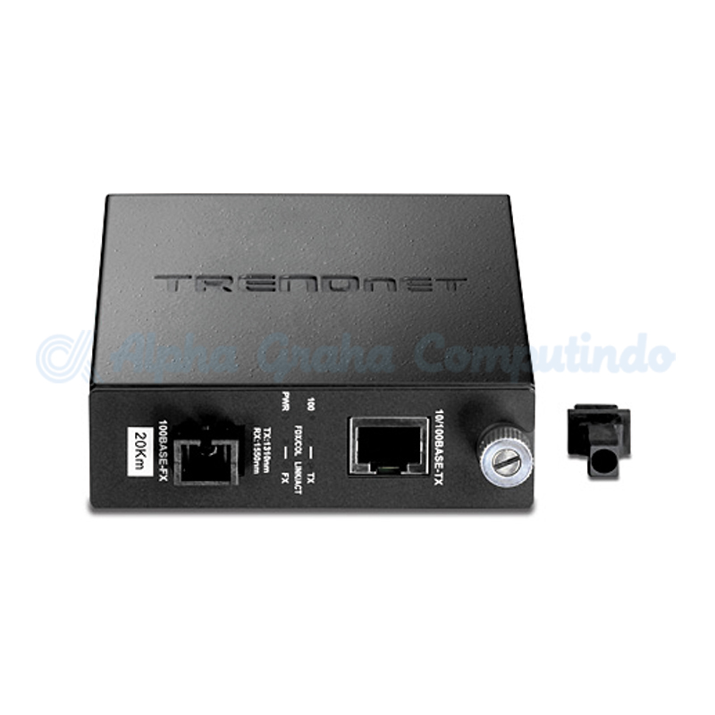 TRENDnet  100Base-TX to 100Base-FX Dual Wavelength Single Mode SC Fiber Converter TX: 1310 RX: 1550 [TFC-110S20D3]