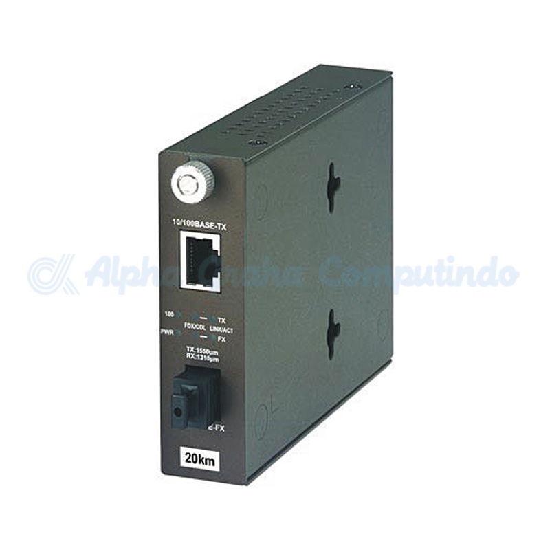 TRENDnet  100Base-TX to 100Base-FX Dual Wavelength Single Mode SC Fiber Converter TX: 1550 RX: 1310 [TFC-110S20D5]
