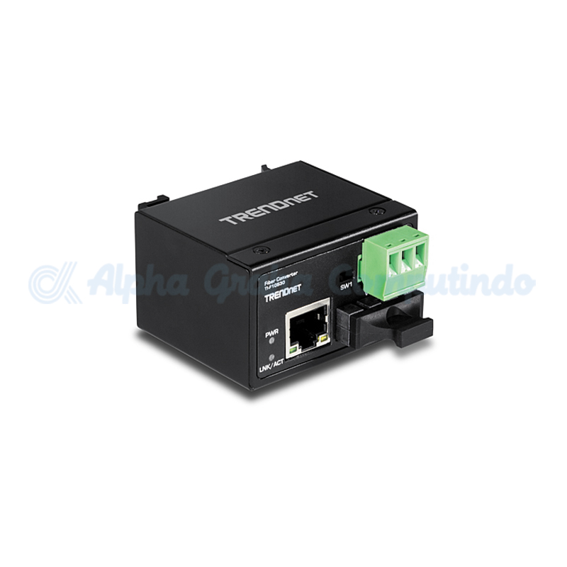 TRENDnet   100Base-FX Single Mode SC Industrial Fiber Converter (30km) [TI-F10S30]