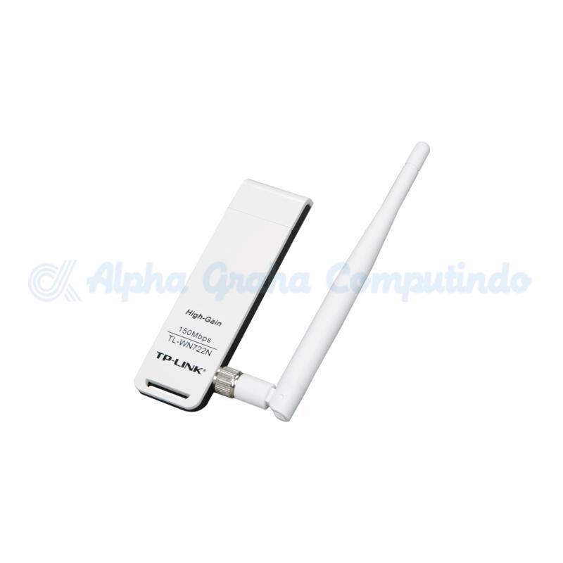 TP-LINK  150Mbps High Gain Wi-Fi USB Adapter [TL-WN722N]