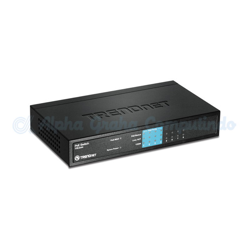 TRENDnet  8-port Half PoE (4 PoE, 4 10/100) Switch [TPE-S44]