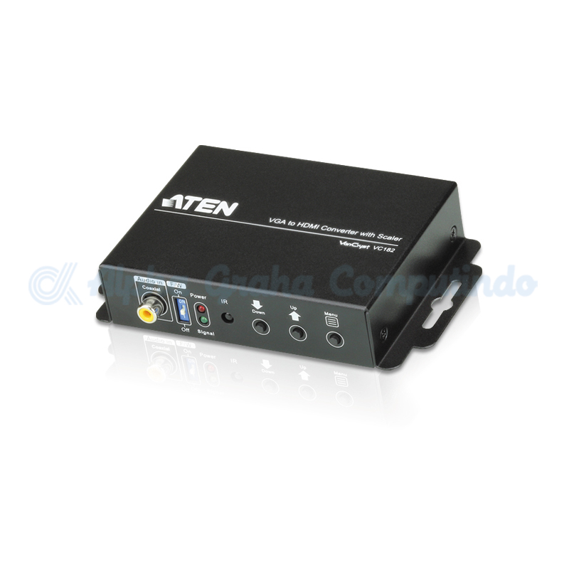ATEN  VGA+Audio to HDMI Converter /w Scal [VC182-AT-G]