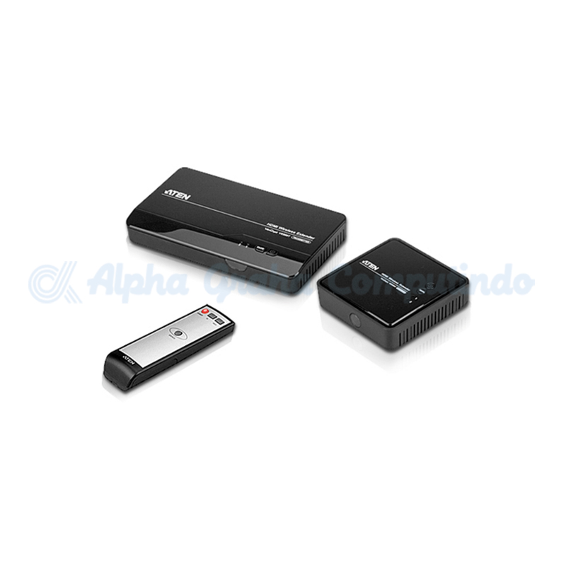ATEN  HDMI Wireless Extender. 480p, 720p, 1080i and 1080p (24/30/60fps)and 5.1channel digital au [VE809-AT-G]