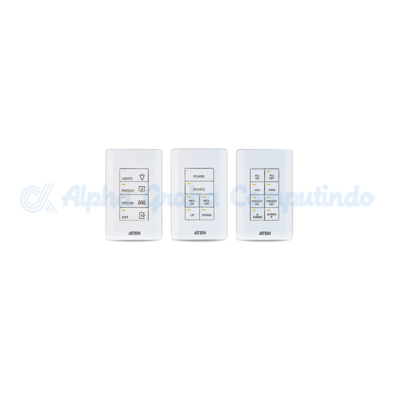 ATEN Control System - 8-button Keypad (US, 1 Gang) [VK108US-AT-G]