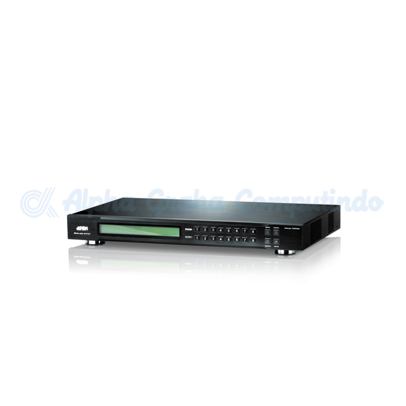 ATEN 4x4 DVI Matrix Switch w/ Scaler (Seamless Switch) [VM5404D-AT-G]